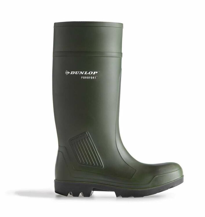 32e8005ea1e Dunlop Purofort Professional Green Full Safety S5 Wellington Boots Green