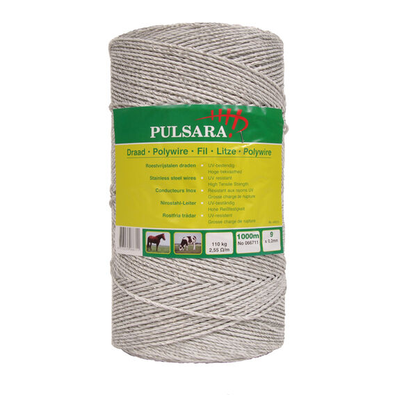 Pulsara Electric Fence Polywire - 1000m