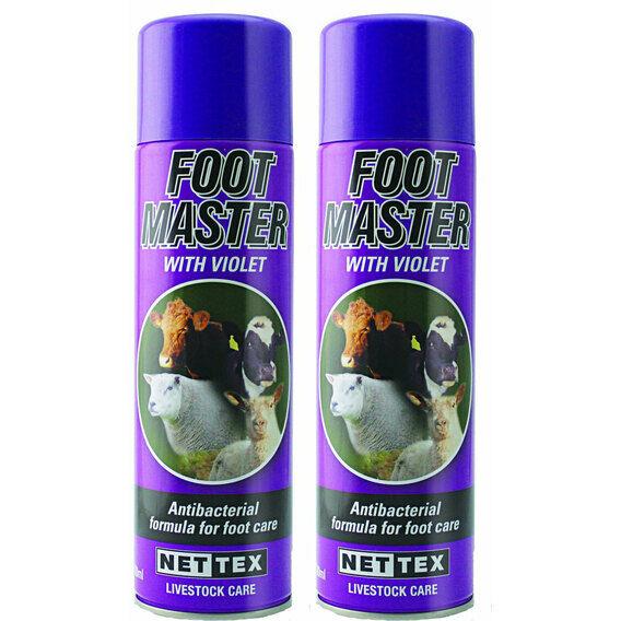 NETTEX Foot Master with Violet Aerosol - 500ml Can Multibuy