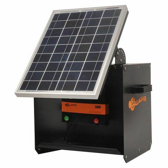 Gallagher S180 Solar Energiser ( Energiser + Solar Panel + Battery + Solar Box)