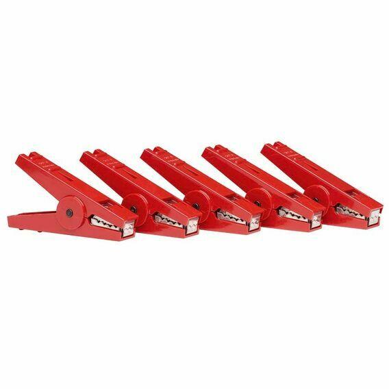 5 x Gallagher Crocodile Clip Red