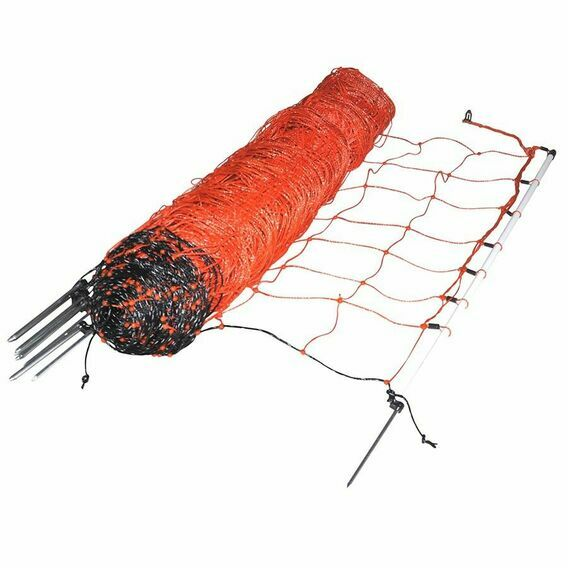 50m x 90cm Gallagher Orange Sheep Netting Single Pin