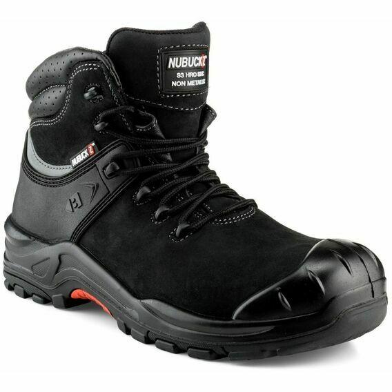 Buckler Nubuckz NKZ102BK Black Safety Lace Boot