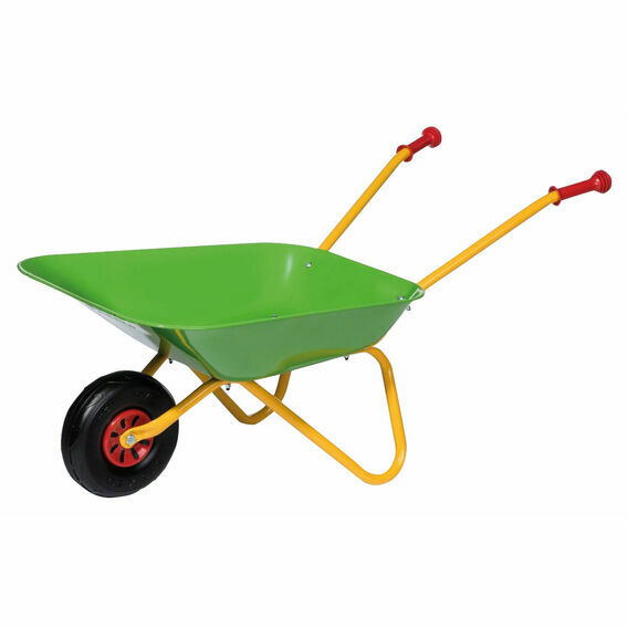 Rolly Toys Green Metal Wheelbarrow