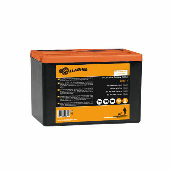 Gallagher Powerpack 9V Energiser Battery - 160Ah