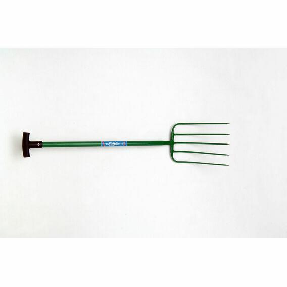 Fyna-lite Hi-Strength Manure Fork - 5 Prong (T Grip)