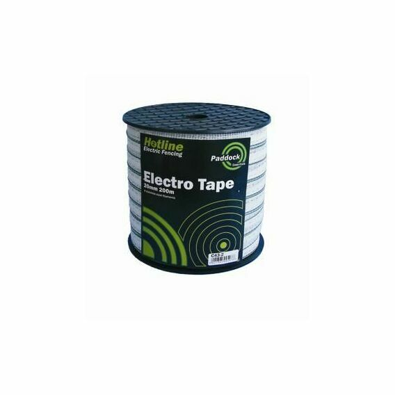 200m Hotline White Paddock Electro Tape