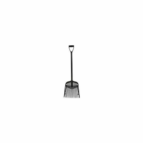 Harold Moore Shavings Fork with Extended D-Grip Handle - Black