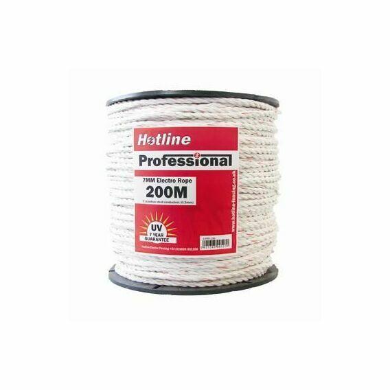 Hotline 7mm White Professional 9 Strand Rope - 200m