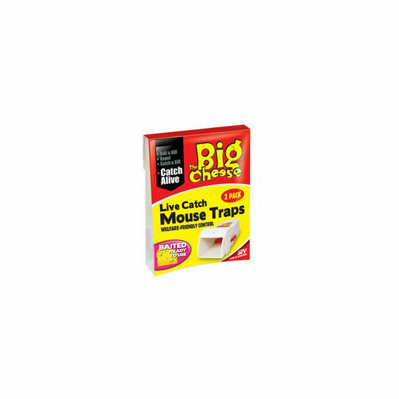 The Big Cheese Live Catch RTU Mouse Trap - Twin Pack