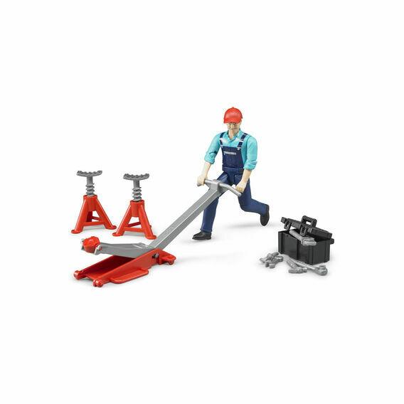 Bruder Figure and Garage Equipment Set 1:16