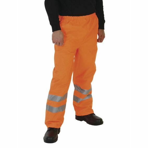 Yoko Hi Vis Waterproof Contractor Trousers - Orange
