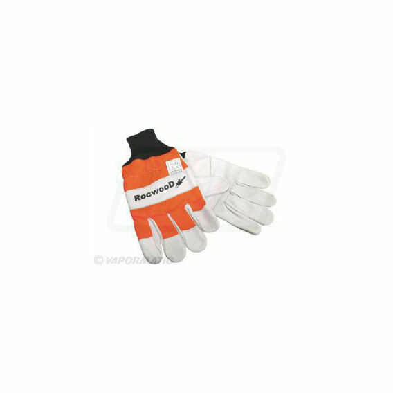 Smooth Leather Hi-Visibility Chainsaw Gloves