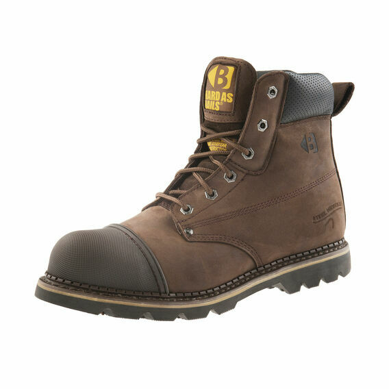 Buckler B301SM Chocolate Brown Lace Safety Work Boots
