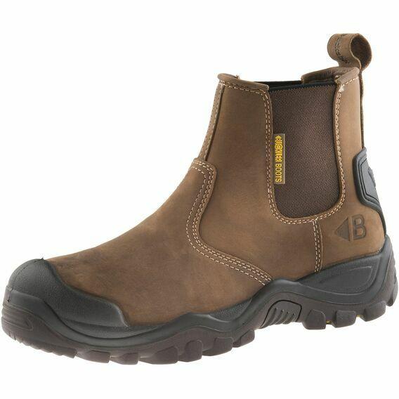 Buckler Buckshot BSH006BR Dark Brown Safety Dealer Boots