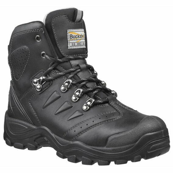 Buckler BSH007BK Buckshot Black Safety Lace Boots