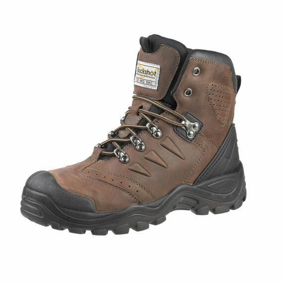 Buckler BSH007BR Buckshot Lace Safety Boots - Dark Brown