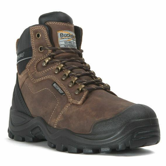 Buckler BSH009BR Buckshot Dark Brown Safety Lace Boots
