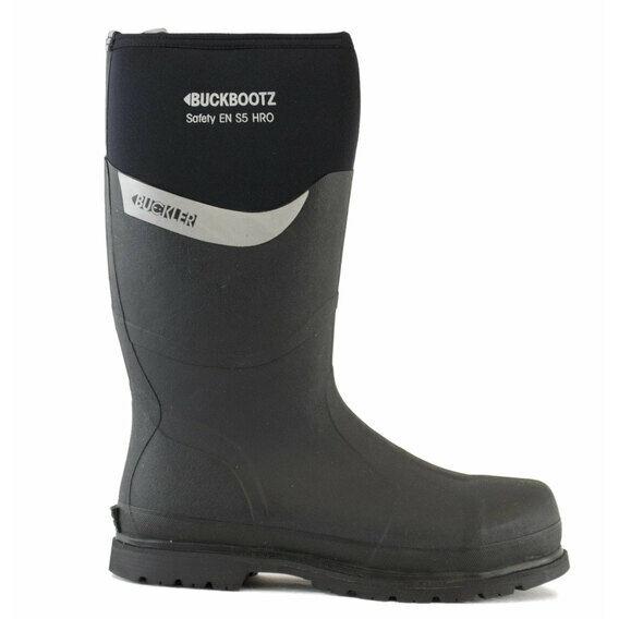 Buckler Buckbootz S5 BBZ6000BK Black Safety Wellington Boots