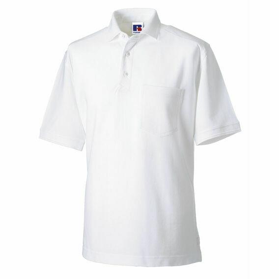 Russell Men's Heavy Duty Polo Shirt - White