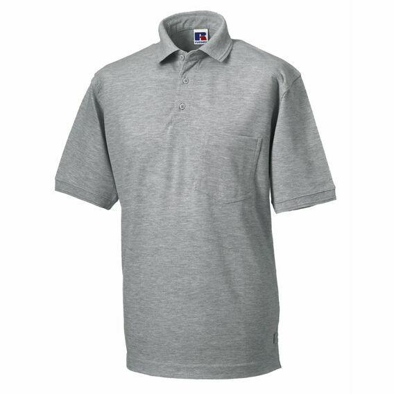 Russell Men's Heavy Duty Polo Shirt - Light Oxford