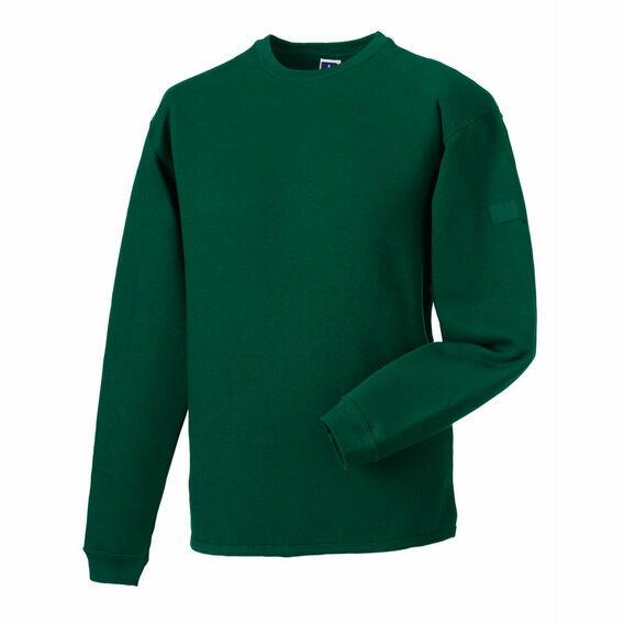 Russell Crew Neck Set In Sweatshirt - Bottle Green