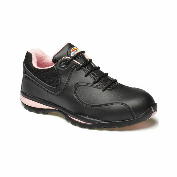 Dickies Ohio Ladies Safety Trainers - Black/Pink