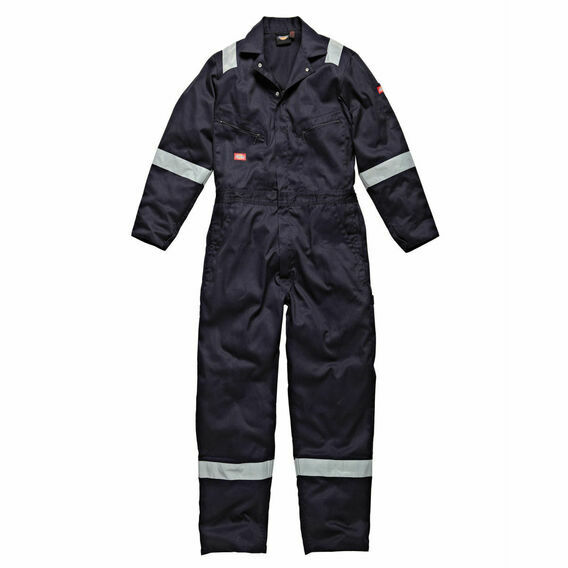 Dickies Hi-Vis Stripe Coverall - Navy Blue