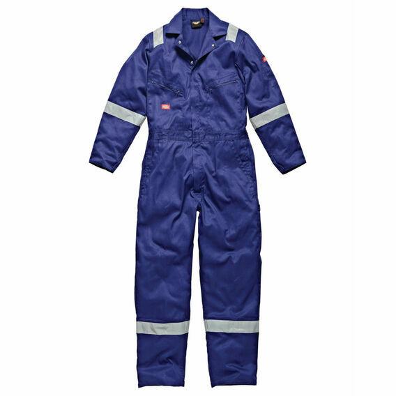 Dickies Hi-Vis Stripe Coverall - Royal Blue
