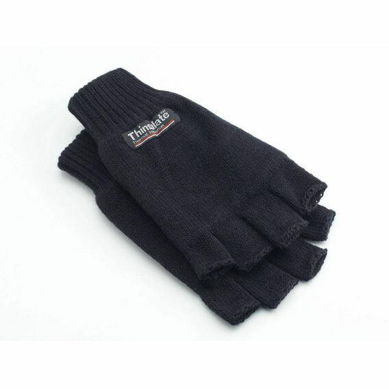 Thinsulate 3M Half Finger Gloves - Black