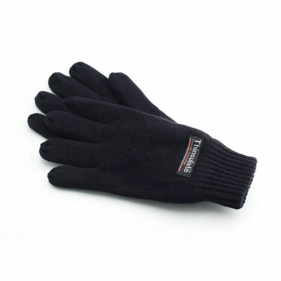 Thinsulate 3M Full Finger Gloves - Black
